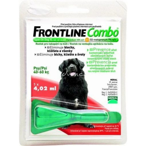 Frontline Combo csepp Bolha - Kullancsirtó XL 40-60 kg (kutya)