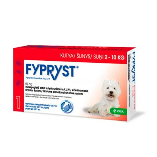 Fypryst SpotOn 2-10kg 1db Kutyáknak Bolha és Kullancsírtó Csepp