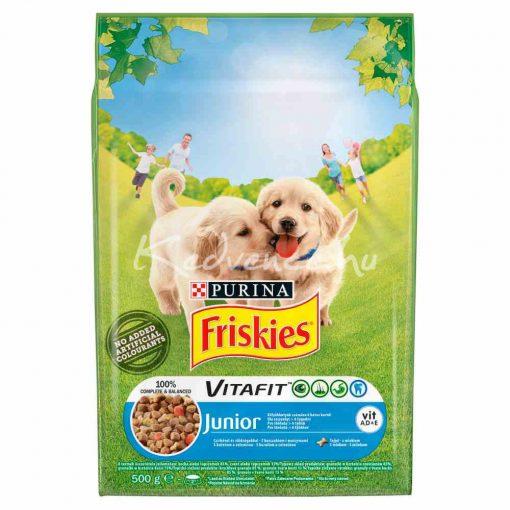 Friskies Junior Csirkével, zöldségekkel és tejjel száraz kutyaeledel 500g
