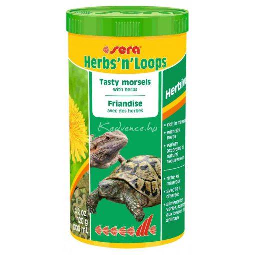 Sera Herbs 'n' Loops Teknős eledel 1000 ml