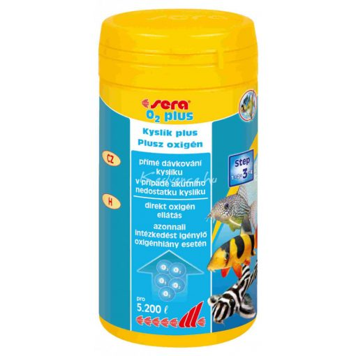 Sera O2 Plus Vízkezelőszer 250ml (3600 liter vízhez)