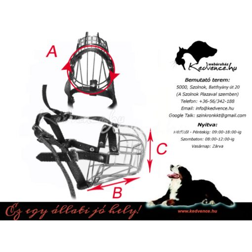 Kutya Felszerelés Fém Szájkosár Rottweiler Nagy