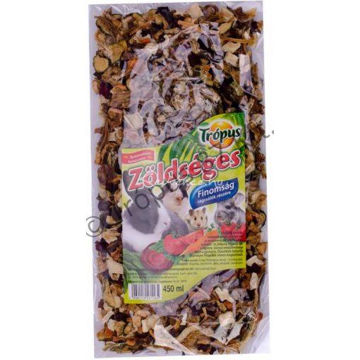 Trópus Rágcsáló Finomság Zöldséges 450ml