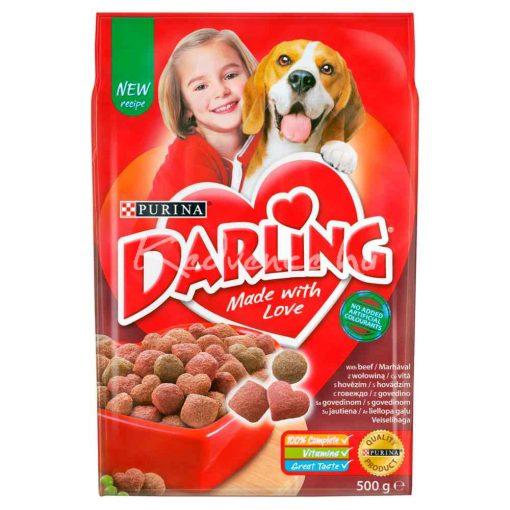 DARLING Marhával és hozzáadott, válogatott zöldségekkel száraz kutyaeledel 500g