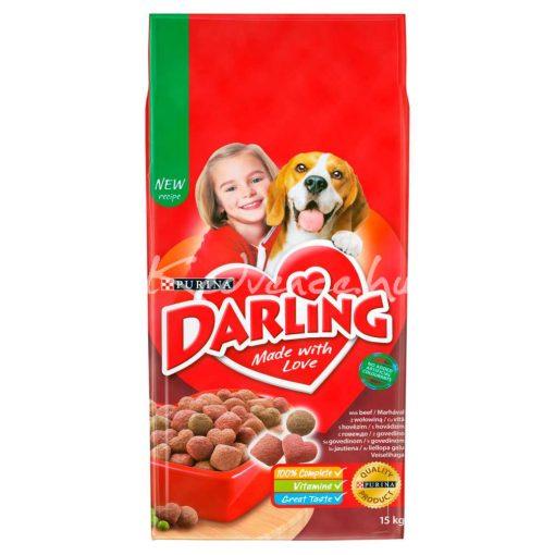 DARLING Marhával és hozzáadott, válogatott zöldségekkel száraz kutyaeledel 15kg