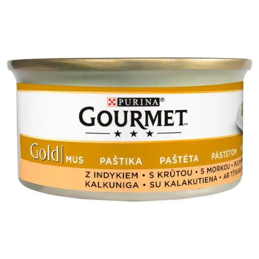 GOURMET GOLD Pulykával pástétom nedves macskaeledel 85g