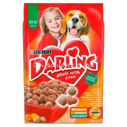 DARLING Szárnyassal és hozzáadott, válogatott zöldségekkel száraz kutyaeledel 500g
