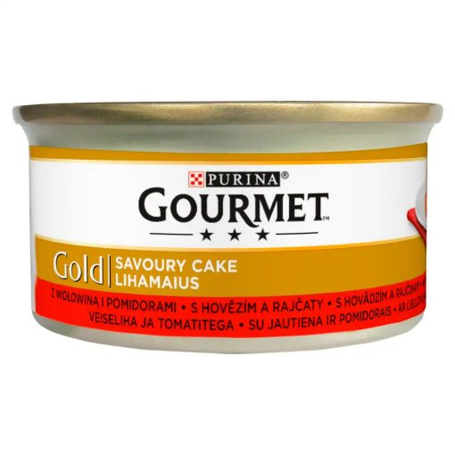 GOURMET GOLD Savoury Cake Marhával és paradicsommal nedves macskaeledel 85g