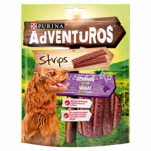 Purina Adventuros Strips - Szarvashús Ízű Lapok 90 g