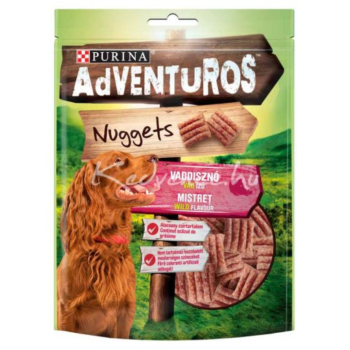 Purina Adventuros Nuggets - Vaddisznóhús Ízű falatok 90 g