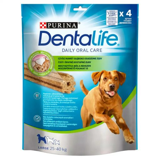 DENTALIFE Large kutya jutalomfalat 4db/142g