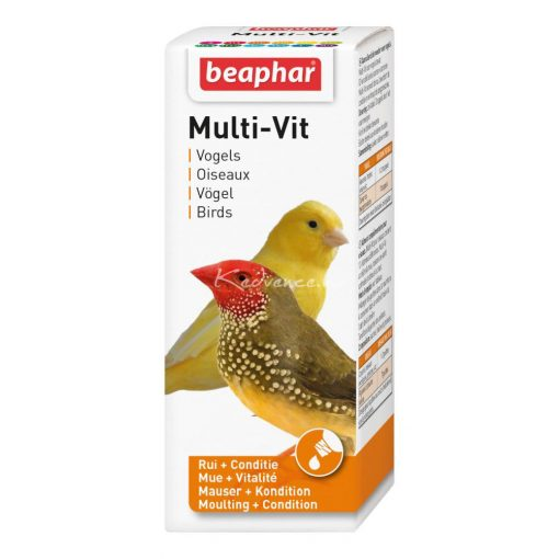 Beaphar Multi-Vitamin Madaraknak 50ml