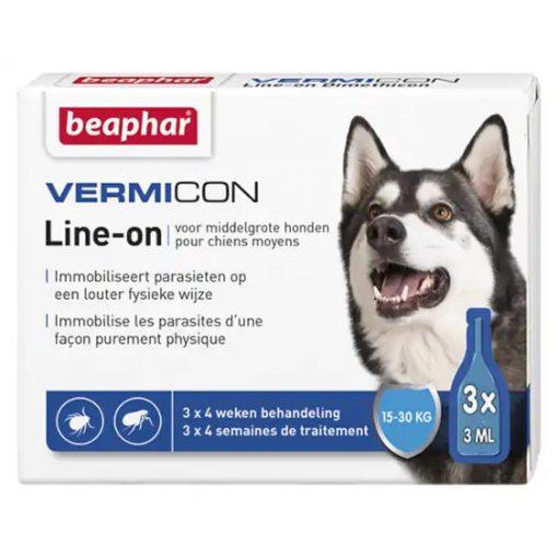 Beaphar Vermicon Spot-On M(15Kg-30Kg) Kutyáknak 3 pipetta