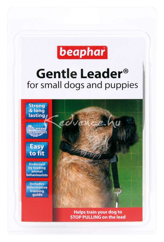 Beaphar Gentle Leader Fejhám - Kisméretű Kutyára, Fekete 1 db