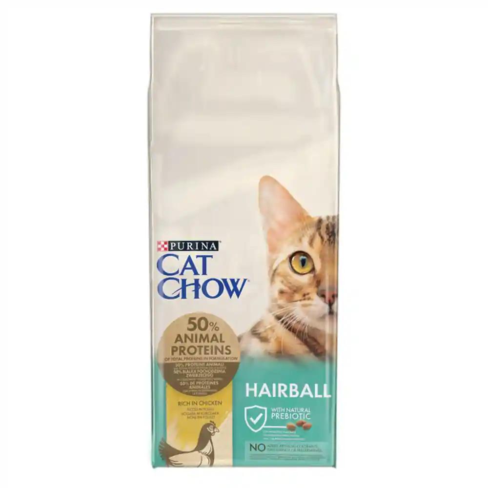 CAT CHOW Hairball Control Csirkében gazdag száraz macskaeledel 15kg
