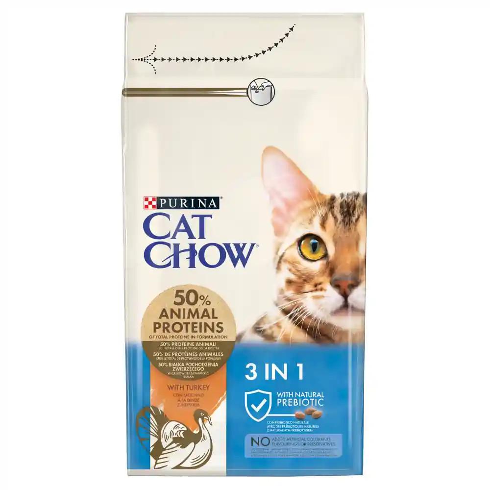 CAT CHOW 3-in-1 Pulykában gazdag száraz macskaeledel 1,5kg