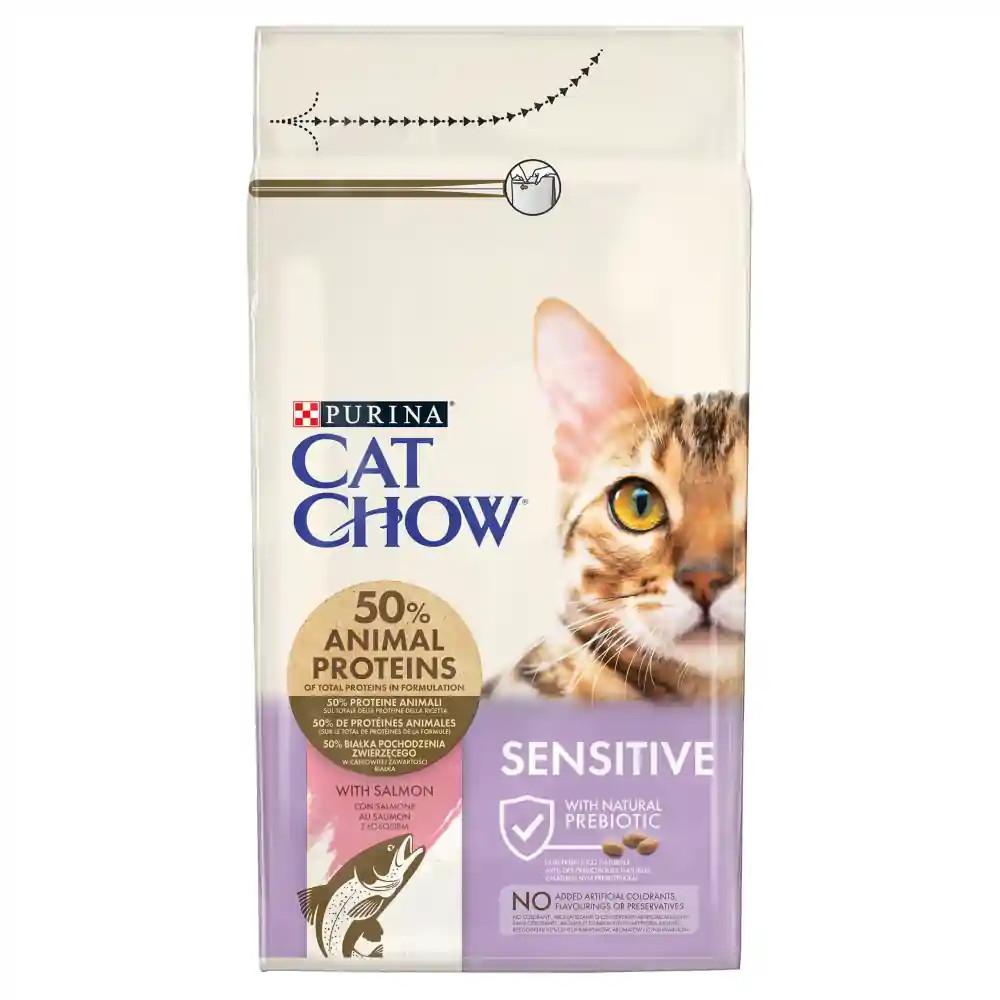 CAT CHOW Sensitive Lazacban gazdag száraz macskaeledel 1,5kg