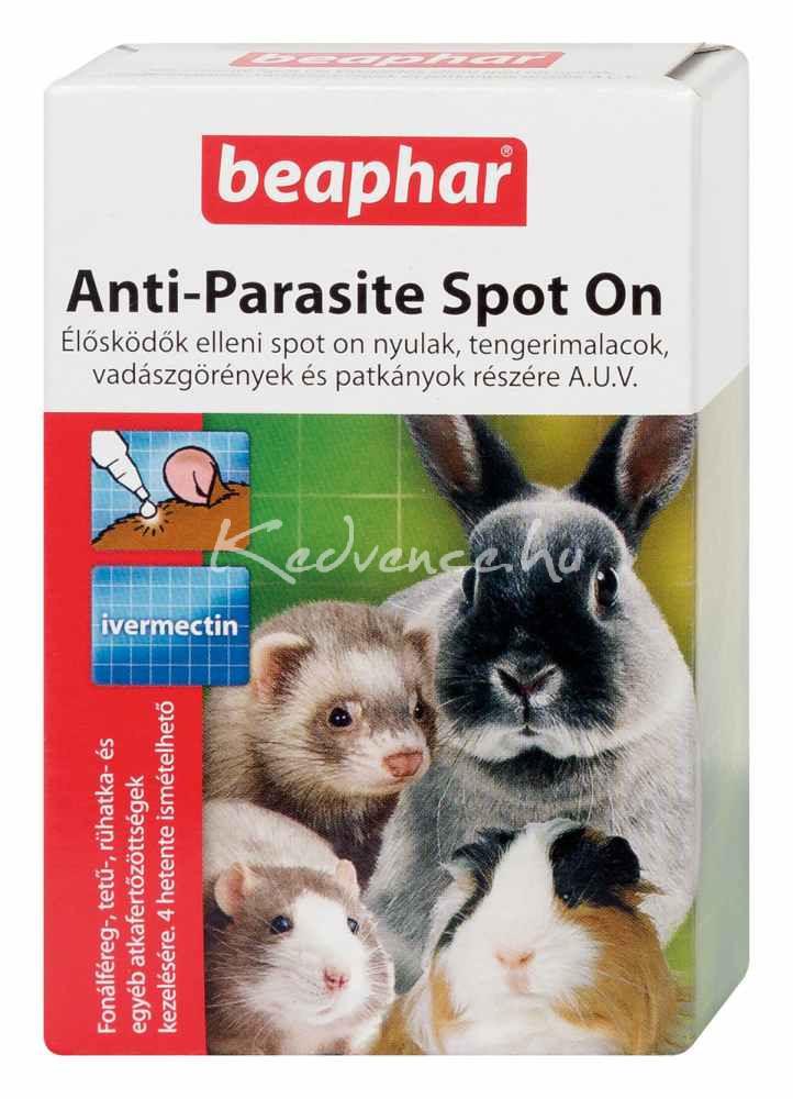 Beaphar Élősködők Elleni Spot On Nyúl/Tengerimalac/Görény/Patkány 4 pipetta